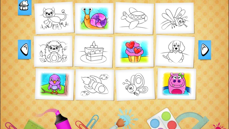 123 Kids Fun COLORING BOOK Outline Drawing Images screenshot-3