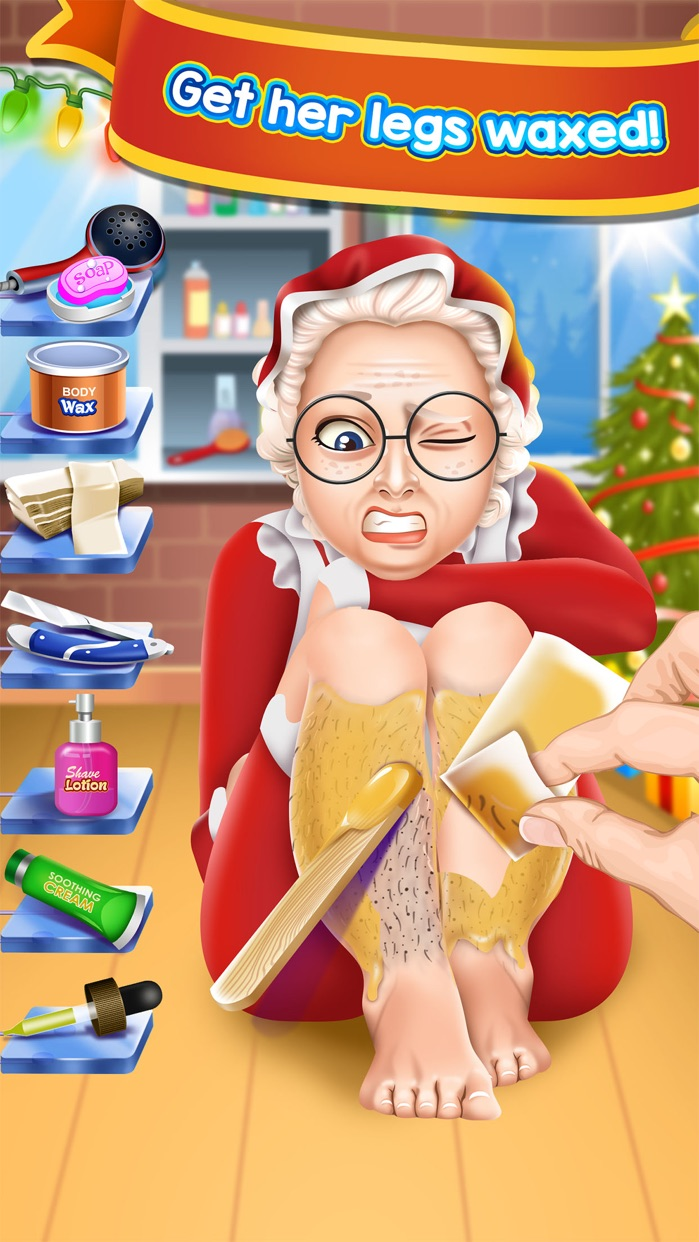 Christmas Shave Salon Kids Games (Boys & Girls) Screenshot