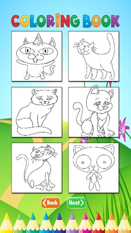 Cats Coloring Book - Activities for Kids screenshot-3