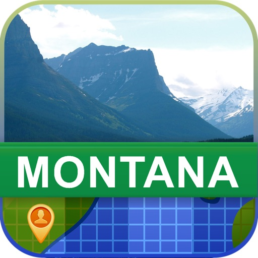 Offline Montana, USA Map - World Offline Maps