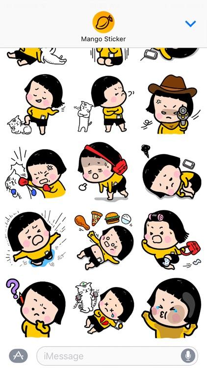 Mobile Girl, MiM - Mango Sticker screenshot-3