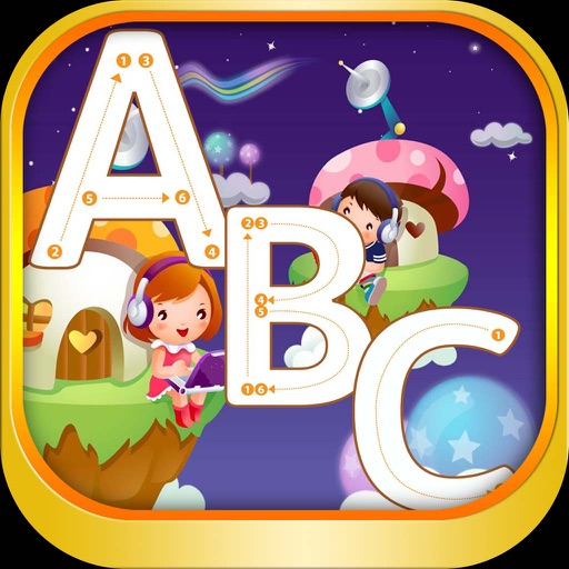 ABC Alphabet Tracing coloring for boy and girl iOS App