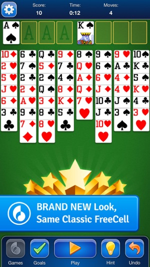 FreeCell Solitaire Card Game Screenshot