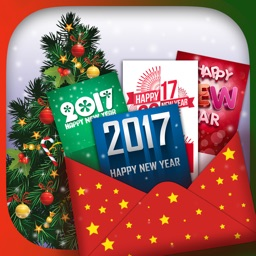 New Year 2017 Greeting Card Maker With Fun Designs