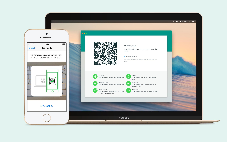 Screenshot do app WhatsApp Desktop