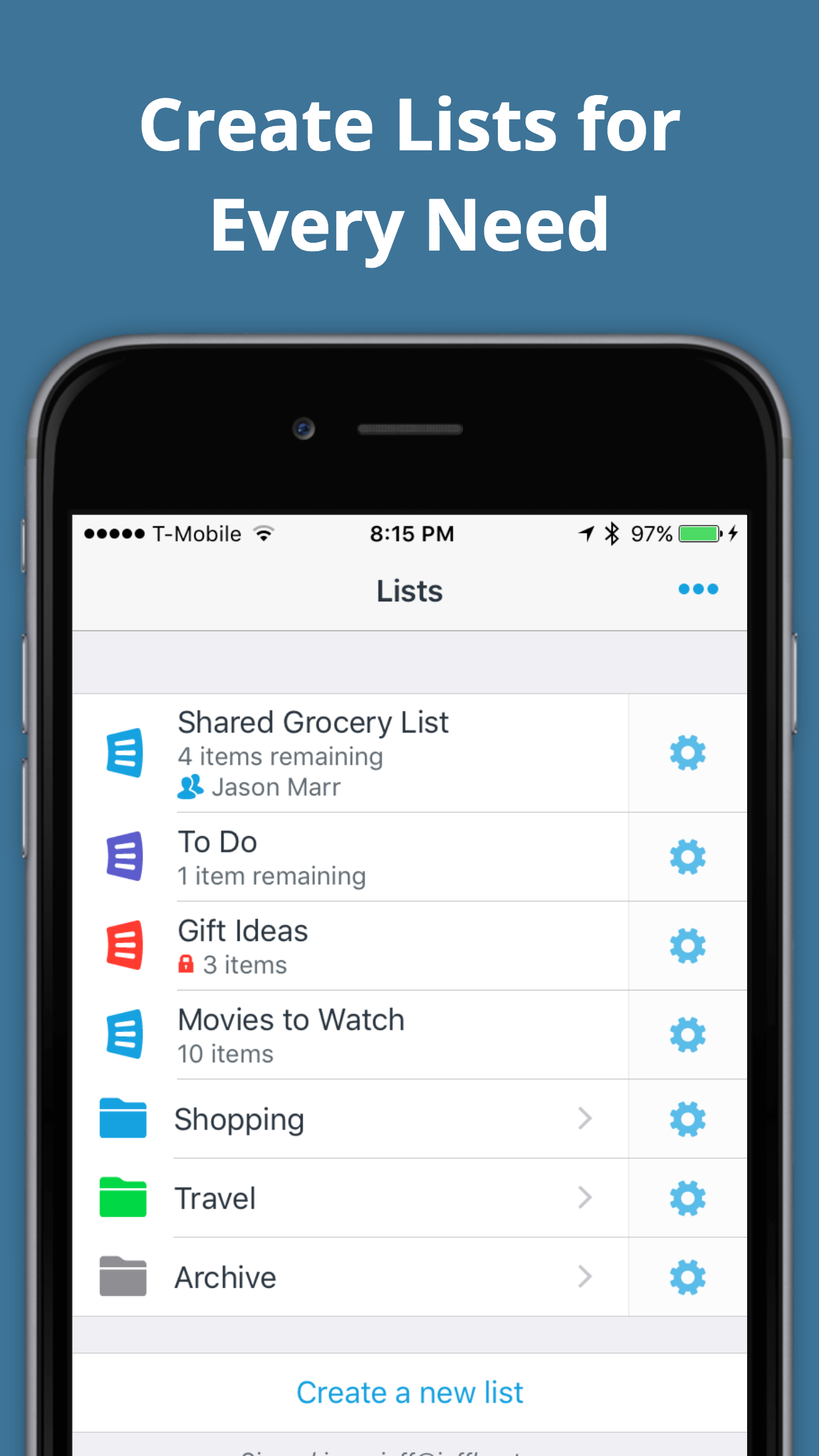 AnyList Screenshot