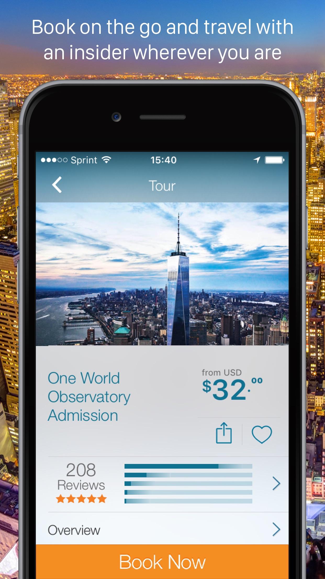 Viator Tours & Activities Screenshot