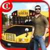 Crazy School Bus Driver 3D Plus