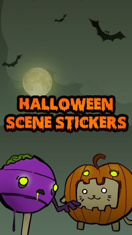 HalloweenScene Stickers and Emoji