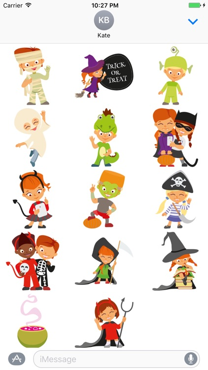 Crazy Halloween Sticker for iMessage #6