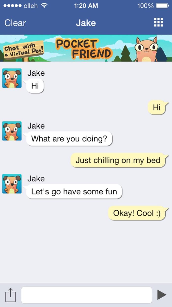 Virtual Talk - AI Chatbot Screenshot