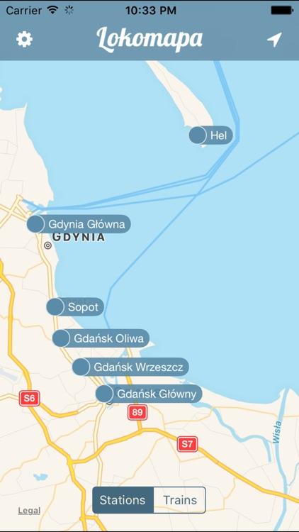 Lokomapa - train schedule & spotting
