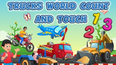 Trucks World Count and Touch- Toddler Counting 123 for Kids screenshot one