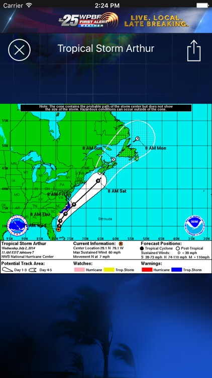 WPBF 25 Hurricane Tracker screenshot-1