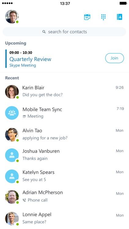 Skype for Business (formerly Lync 2013)