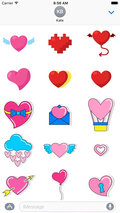 80s Love Stickers Pack for iMessage