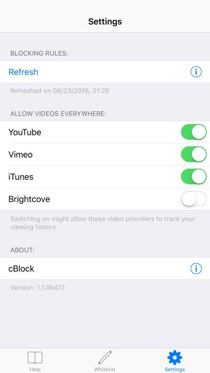 cBlock - Adblocker for privacy