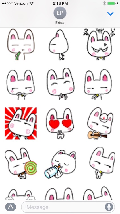 Animated Bunny Rabbit Emojis for iMessages