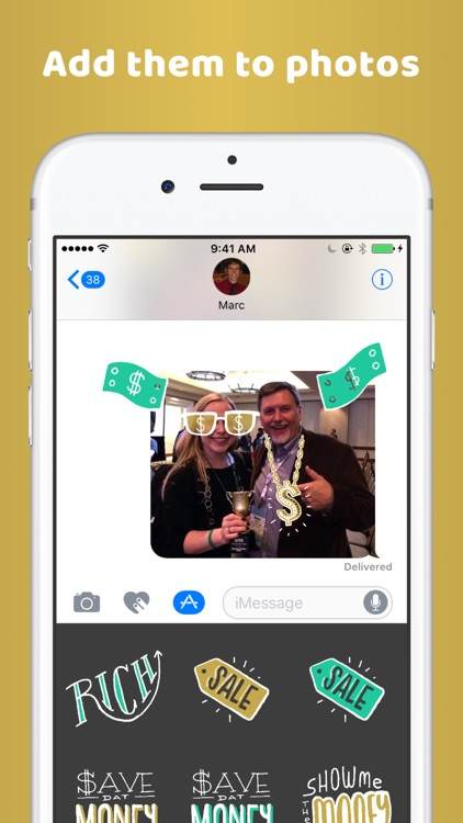 Richify! Money-themed stickers for iMessage