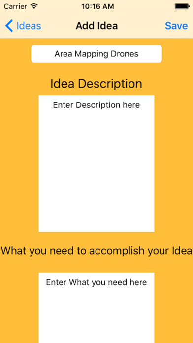Lightbulb Notebook screenshot two