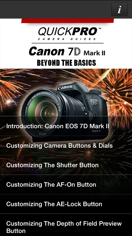 QuickPro Guide for Canon 7D Mark II Advanced HD screenshot-0