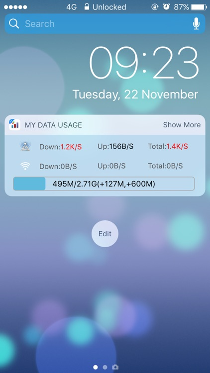 My Data Usage- Cellular Widget