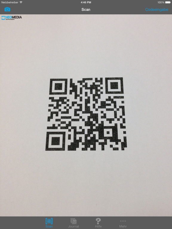 NeoReader®-QR&BarcodeScanner Screenshot