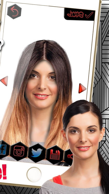 Ombre Hair Color Changer Fashion Hairstyle Makeover Photo