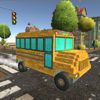 Pixel School Bus Free Style Driving