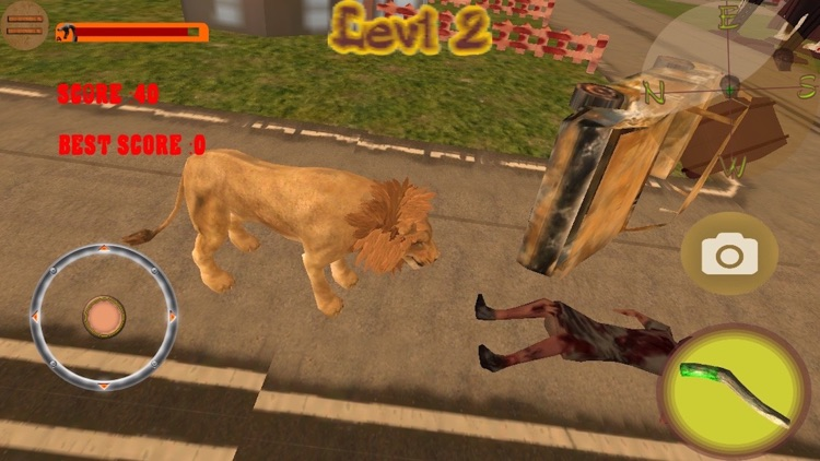 Lion VS Zombies Simulator Pro 3D screenshot-2