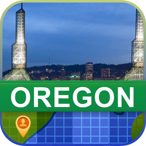 Offline Oregon, USA Map - World Offline Maps