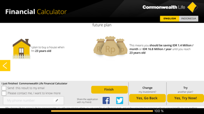 Commonwealth Life Financial Calculator screenshot two