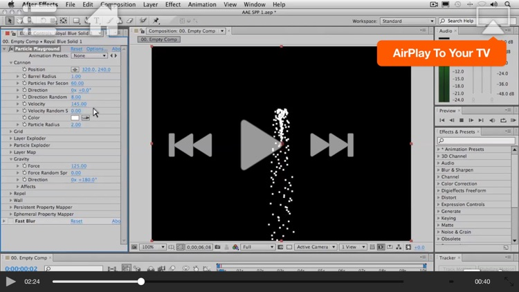 Course For After Effects Particle Playground screenshot-3