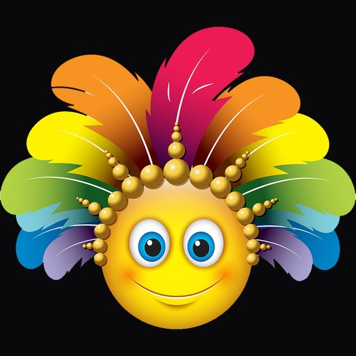 Carnival Smileys Stickers