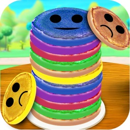 Rainbow Pancake Towers Stacker - Pile & Stack it