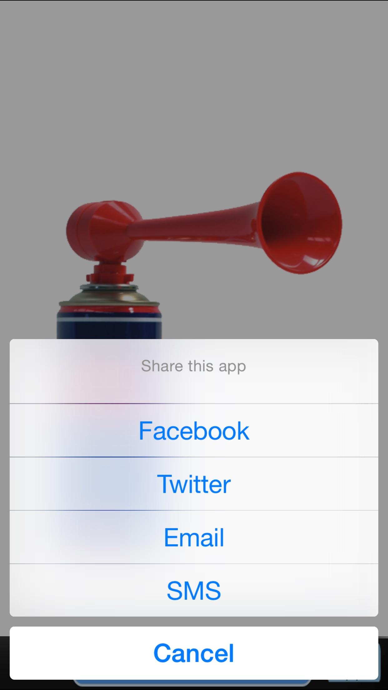 Pocket Air Horn Screenshot