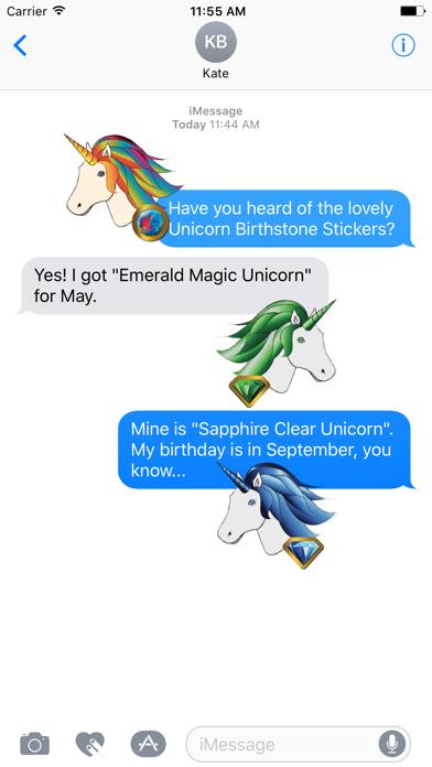 Unicorn Birthstone Stickers screenshot one