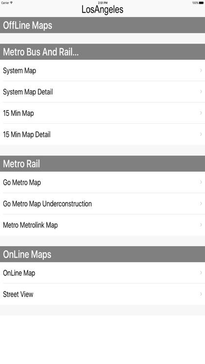 Los Angeles - Bus Rail Metro and Street View Maps screenshot-4