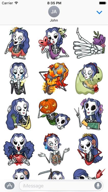 Halloween Princess Emoji Stickers - for iMessage