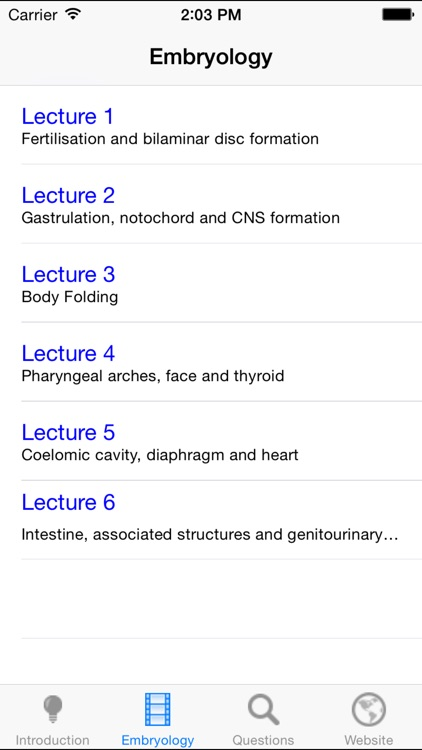 Embryology Lectures screenshot-4
