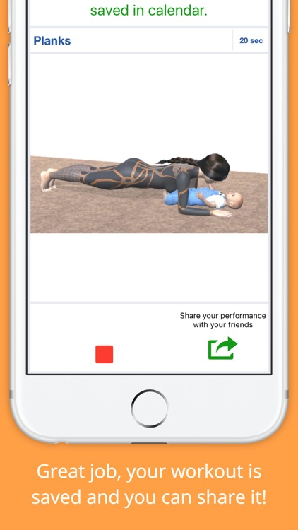 9 Minutes Mom and Baby Workout Challenge Free screenshot-3