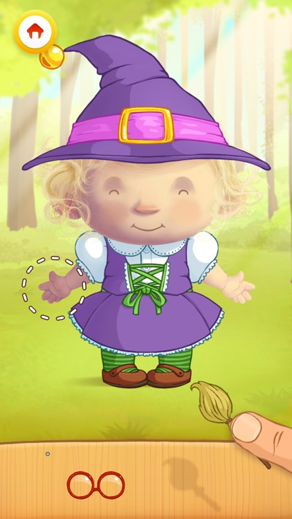 Dress Up : Fairy Tales - Fantasy puzzle game & Coloring book for children and babies by Play Toddlers (Free Version)