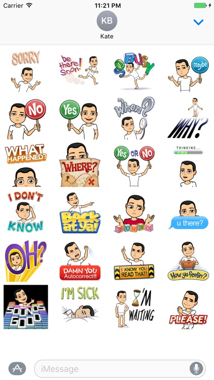 Quick replies stickers - emoji - emoticons