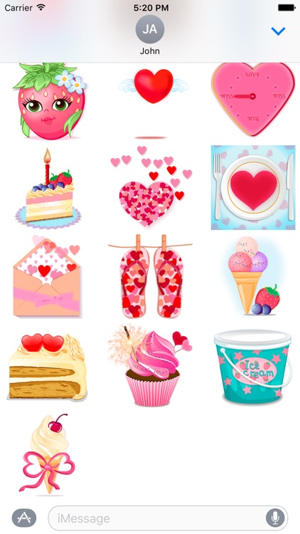About love - love stickers with hearts and sweets screenshot-4