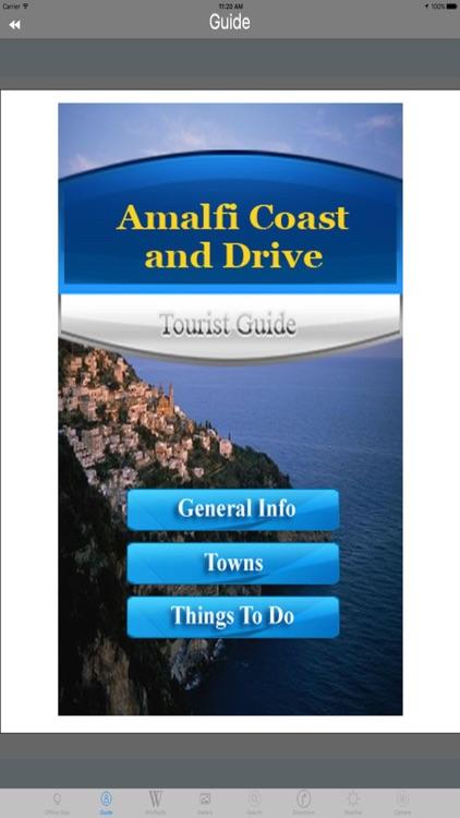 Amalfi Coast Drive Italy Tourist Travel Guide screenshot-3