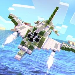 Military Block Plane . Free Army Airplane War Game