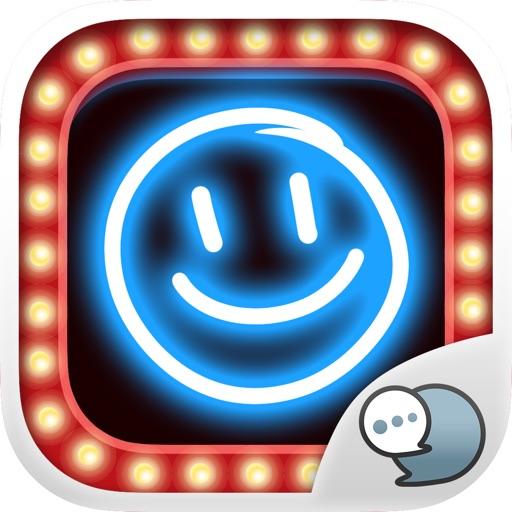 Neon Photo Emoji Sticker Keyboard Themes ChatStick
