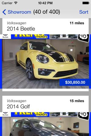 Screenshot of Trend Motors VW DealerApp