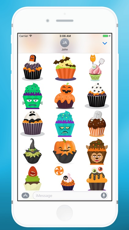 Sweet Halloween Cake Sticker for iMessage