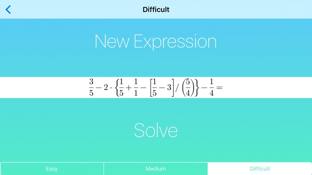 Mathematical Expressions - Generator and Solver on the App Store